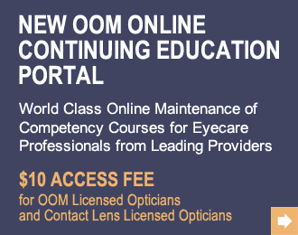 World class online maintenance of competency courses for eyecare professionals from leading providers